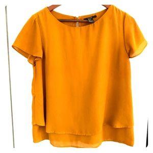 Forever21 - Mustard Short sleeve Blouse - Small